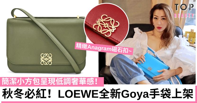 LOEWE Goya小方包正式上架 3款尺寸配精緻Logo簡潔質感掀熱議!