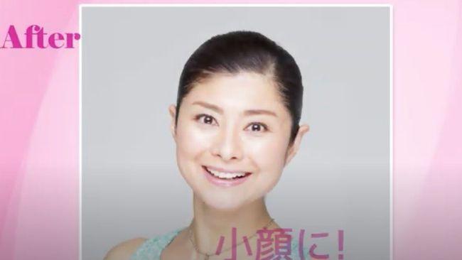 間間田佳子老師做臉部瑜伽後