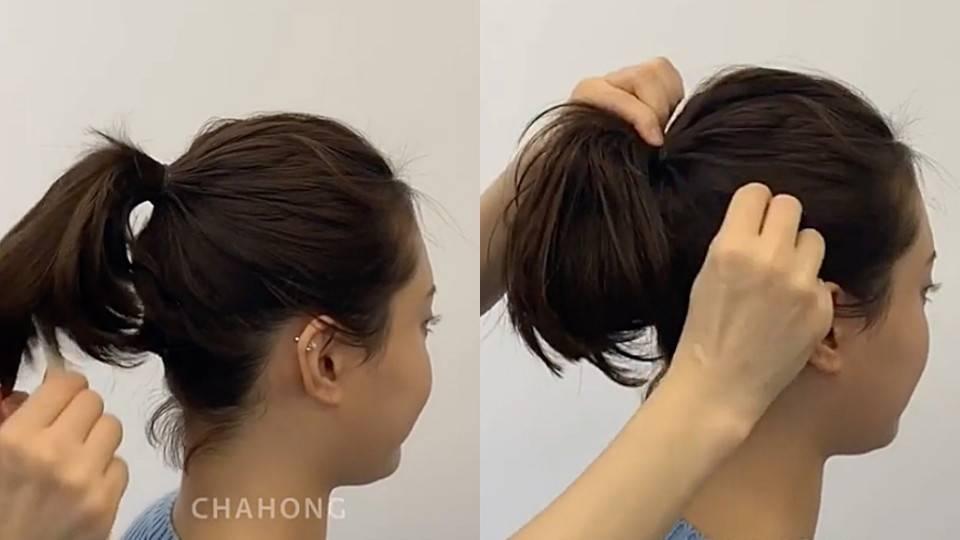 短髮高馬尾技巧