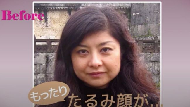 間間田佳子老師做臉部瑜伽前