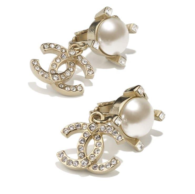 耳環金屬、玻璃珍珠及水晶 $3,400