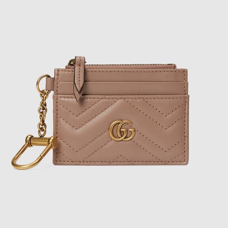 GG Marmont系列鑰匙鏈卡包 $3,150